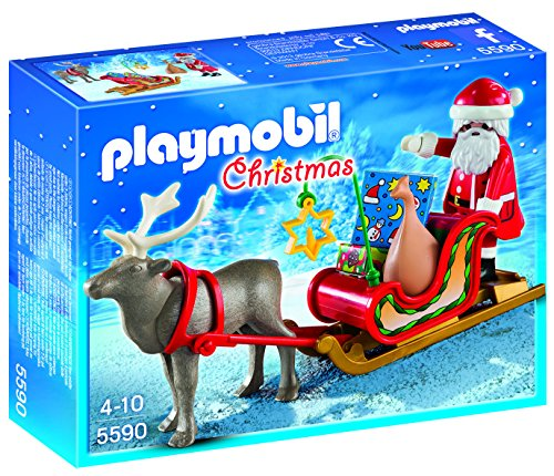 PLAYMOBIL Santa's Sleigh with Reindeer Set