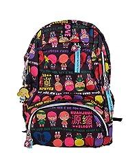 Super Drool Colour Burst Black Backpack