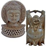 UFC Mart Wooden Buddha Statue And Get Laughing Buddha Free