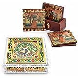 Great Art Buy Royal Meenakari Work Dryfruit Box N Get Brass Tea Coasters Free