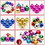 Generic Purple : 24pcs Multicolor Decorative Theme Pack Of Exquisite Christmas Balls Ornaments For XmasTree Decoration...