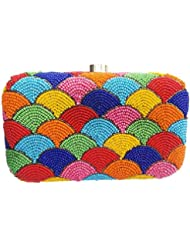 The Indian Handicraft Store Women's Clutch Colourful Fountains