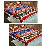 Homefab India Set Of 2 Double Bed Fleece AC Blanket
