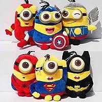 Despicable Me The Avengers Minion Iron Man Batman Thor Captain America Spider Man Super Man 8 Inch Toddler Stuffed...