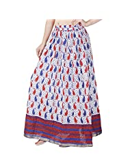Fashiana Women Colorful Floral Printed Cotton Long Maxi Beach Skirt Dress