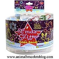 Xmas Glitter Rubba Bandz Bracelets Pack Of 288 Bands