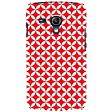 For Samsung Galaxy S3 Mini I8190 :: Samsung I8190 Galaxy S III Mini :: Samsung I8190N Galaxy S III Mini Overlapping Chain Mail Circle Pattern ( Overlapping Chain Mail Circle Pattern, Modular Geometric Tessellating, Nice Pattern, Pattern, Red Pattern ) Pri