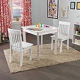 KidKraft Square Table & 2 Avalon Chair Set, White