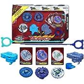 Beyblade Hasbro Year 2013 Beyblade Shogun Steel Bey Battle Tops Water Team 3 Pack Set Stamina 145 D Ss 08 Pirate...