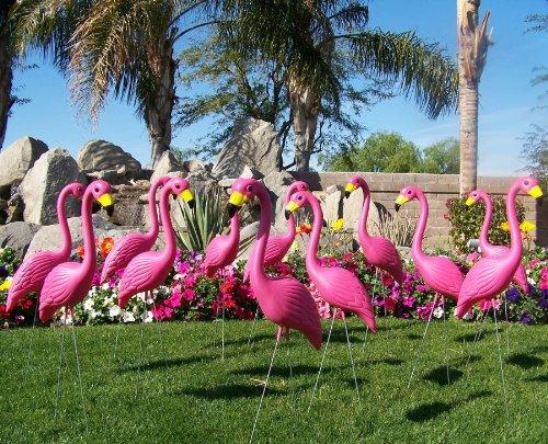 Pink Flamingo 3-dimensional Yard Ornaments