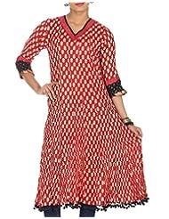 Rajrang Women Printed Tops Tunic Long Kurti Size XL - B00OFYLQSW