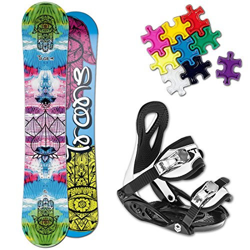 TRANS FE GIRL KINDER SNOWBOARD SET 2016 ~ 120 CM + ELFGEN JUNIOR BINDUNG +PAD