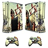 Designer Skin Sticker For Xbox 360 Slim Console + Two Wireless Controller Decals Grand Theft Auto V