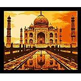 10 Am Taj Framed Wall Art (Orange) (With Glass)