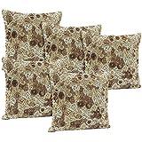 Idrape Polyester 5 Piece Cushion Cover Set- Brown, 40 Cm X 40 Cm