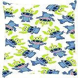 Snoogg Alien Blue Cartoon Cute Cushion Cover Throw Pillows 16 X 16 Inch