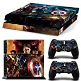 GOOOD PS4 Designer Skin Decal for PlayStation 4 Console System and PS4 Wireless Dualshock Controller - The Avengers Captain America