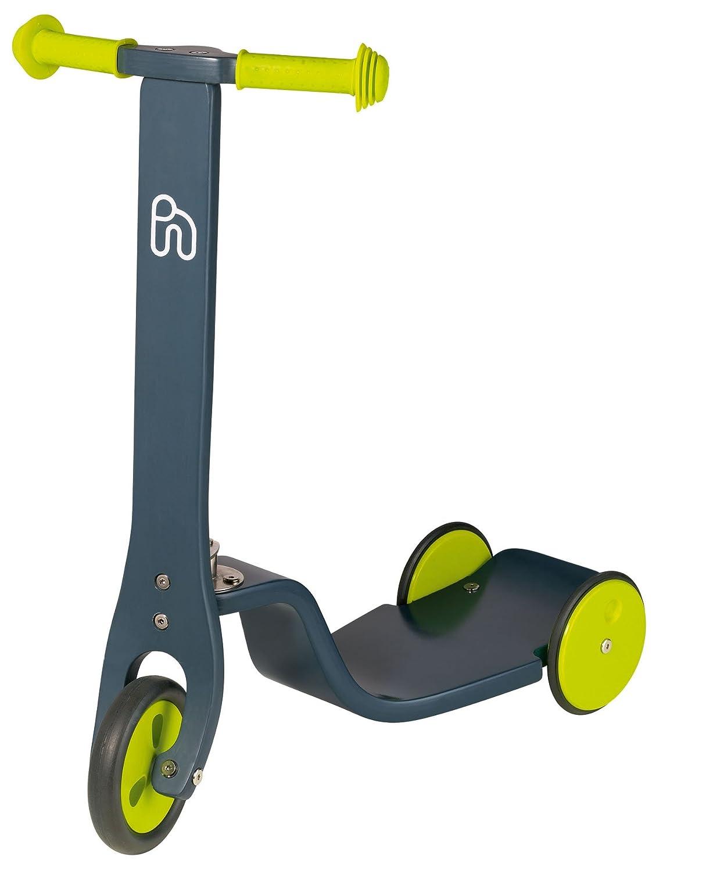 Hoppop 34130017 Scooti - Patinete de madera, color gris y lima