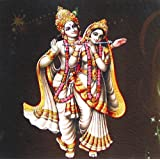 "Dolls Of India ""Radha Playing Flute With Krishna"" Reprint On Card Paper - Unframed (15.88 X 15.88 Centimeters)..."