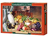 Copy of Still Life with Fruits and a Cockatoo, Josef Schuster, 3000 Piece Jigsaw Puzzle By Castorland Puzzles