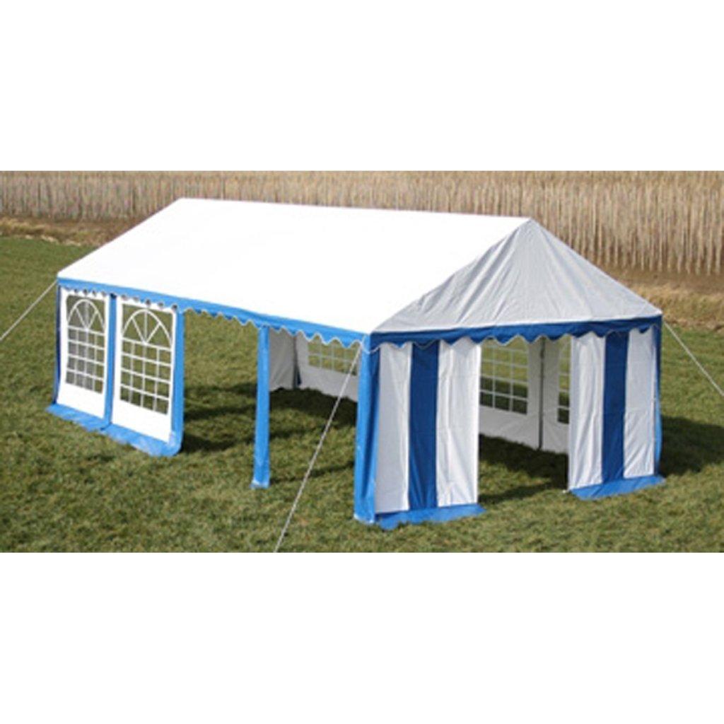 vidaXL Partyzelt 4 x 8 m blau-weiß