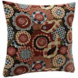 """Harilla Designer Flower Button 2 Pieces Filled Polyester Cushion Set - 16"""" X 16"""", Multicolor"""