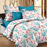Story@Home Exclusive Candy Collection 100 % Cotton Floral Print Double Bedsheets With 2 Pillow Covers, White
