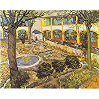 Tallenge Old Masters Collection - The Asylum Garden At Arles By Vincent Van Gogh - A3 Size Premium Quality Rolled...