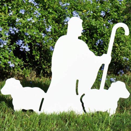 Christmas Outdoor Nativity Shepherd with Sheep Figure