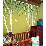 Birch Trees In The Nature Garden 2 - Beautiful Tree Wall Decals For Kids Rooms Teen Girls Boys Wallpaper Murals...