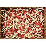 1000 - 2 3 4 Red Natural Two-Piece Golf Tees By JP Lann