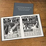 Personalised MANCHESTER UNITED/Man Utd Football Newspaper Book Gift For Men/Dad/Christmas/Birthday