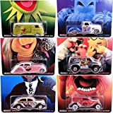 The Muppets Hot Wheels Compete Pop Culture Set 2014 Starring: Kermit the Frog, Miss Piggy, Animal, Gonzo, Beaker & Sam the Eagle - Chevy Truck -Volkswagen VW Bus