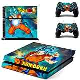 Tech Discovery Dragonball Z Son Goku Style Skin Sticker for PS4 PlayStation 4 and 2 Controller Skins