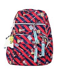 Super Drool Colour Burst Red Backpack