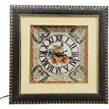 HANDICRAFTS PARADISE MARBLE DECORATIVE PEACOCK DESIGN WALL CLOCK HPMR15006