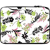Snoogg White Leaves Pattern 2479 12 To 12.6 Inch Laptop Netbook Notebook Slipcase Sleeve
