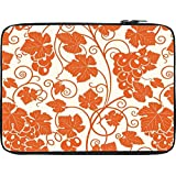 Snoogg Grape Leaves 2850 12 To 12.6 Inch Laptop Netbook Notebook Slipcase Sleeve