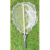 "KUFA Retractable Aluminum Landing Net With PVC Mesh (Hoop:20""x16"",Handle:28"")"