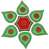 Pavanm's Plastic Rangoli - 20 Cm X 14 Cm X 10 Cm , Green - B019RS8SVS
