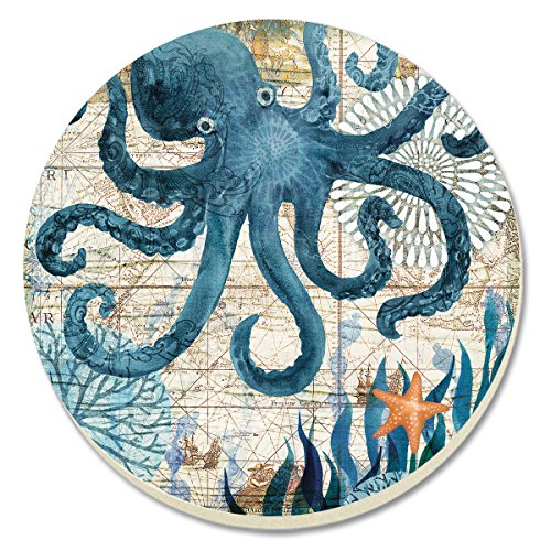 Octopus Absorbent Coasters, Set of 4