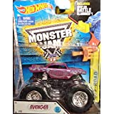 2015 ALL NEW LOOK! Avenger Monster Jam Off Road Truck By Hot Wheels 1:64 With Battle Slammer