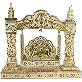 The Krishna Worship House Wood Krishna Jhula (6 Cm X 6 Cm X 12 Cm , Golden)