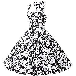 YACUN Mujer Vintage Vestido De Cóctel