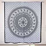 Collectible India King Size Bed Sheets Twin Hippie Elephant Tapestries Wall Hanging,Indian Mandala Tapestry Bedspread...