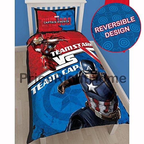 Marvel Captain America Civil War Single/US Twin Duvet Cover Set