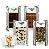 Chocholik Luxury Chocolates - Aah!! Collection Of Yummy Chocolates Bars With Birthday Card