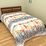 Axcellence Multi Colored Floral Print Poly-cotton Double Bed Reversible Dohar (Ysh42)