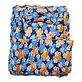 Amardeep Baby Mattress With Quilt 105 X 87 X 5 Cms Blue Floral Print 0-18 Months