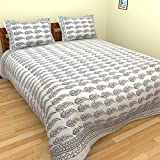 Jaipuri Bedsheet (cotton Hand Block Print Double Bedsheet With Two Pillow Cover)